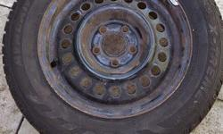 Two Avalance Extreme tires 185 by 65, R14, M and S Balanced and mounted, last on a Chevy Cavalier. Lots of tread left