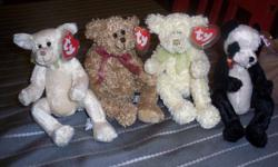I have 17 Ty Attic Treasure Stuffed Animals for sale. I have also included 6 Beanie's. Please see pictures for all of these items. All of the Attic Treasure's have tag protectors and only 3 of the Beanie's do not have tag protectors.