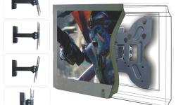 "TygerClaw 14"" - 40"" Full-Motion Swival Wall Mount LCD5305BLK This TygerClaw LCD5305BLK Full-Motion wall mount is designed for most 14"" to 40"" flat-panel TVs up to 79.2lbs/36kgs with tilt degree from -5? to +15?, swivel degree up to 180?, and is"
