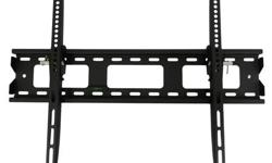 "This TygerClaw LCD3022BLK Tilt wall mount is designed for most 32"" to 63"" flat-panel TVs up to 132lbs/60kgs with tilt degree from -12? to 0?, and is constructed from heavy gauge steel for total support and durability, also an innovative locking mechanism"