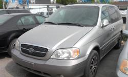 Make Kia Colour Silver Trans Automatic kms 220000 2004 KIA SEDONA: RUN/DRIVE, 7 PASGR. CLEAN BODY, NO RUST, NEWER TIRES / BRAKES, NICE CUSTOM ALLOYS. REQUIRES EXHAUST LEAK REPAIR ! MORE CLEAROUT FIXER UPPER / BEATER CARS TO CHOOSE ALSO IN STORAGE