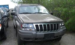 Make Jeep Trans Automatic kms 240000 2002 JEEP GRAND CHEROKEE : GREAT WINTER SUV *** NEVER STOCK IN SNOW *** RUN & DRIVE, 6 CYL, 4x4, , COOL AC, TYPICAL RUST ON FRONT FENDERS. $995. MORE CLEAROUT FIXER UPPER / BEATER CARS TO CHOOSE ALSO IN STORAGE