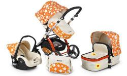 The Uberchild EVO 3 in 1 Travel System is designed and built for performance, safety and ease of use. The 3 in 1 Travel System comes complete with the Chassis, Carrycot, Seat unit, Car Seat, Foot apron, Rain Cover and the Baby Changing Bag. The chassis,