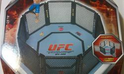 "UFC Octagon Playset for UFC MMA Figures 30"" Wide, Jakks Pacific new in box"