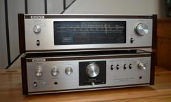 Stereo Integrated Amplifier (1971) RARE VINTAGE SONY INTEGRATED STEREO AMPLIFIER, BUILT TO LAST CENTURIES * PREMIUM CONDITION, JUST SERVICED, WORKS GREAT, SOUNDS AWESOME. Great choice for the small audiophile setup Built like a tank. UNDER THE NAMES OF