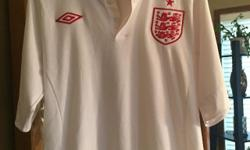 Worn once. England soccer jersey. Size 40 European