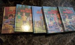Have books 1-5 in the bedtime stories and books 1 -10 in the bible stories. All are hardcover and in excellent shape for age. No rips, tears, etc.   Copyright says 1976.   Call or email and make an offer.   call 773-4753 or 741-4946