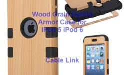 Unique Design Wood Grain Hybrid Defender Case for IPod 5, IPod 6 -Unique Wood grain style. ideal for gift -Special 3-Piece double layer combo design. Inner layer is make of soft silicone Material. Outer are make of rigid plastic -Protect your phone from
