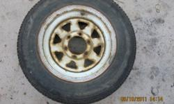 4 Uniroyal studded winter tires on wheels. P215/70R15 97Q M+S 6 bolt wheels fit Nissan Pickup or Dodge Dakota Price Reduced by $150.00.  Not going any lower.