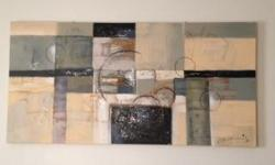 Beautiful painting from Urban Barn. Perfect for a bedroom or living room in a house, condo or apartment. Perfect shape!