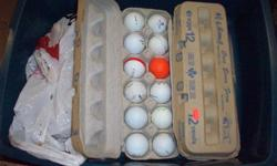 wide selection (55+) of used golf balls. i do not know the Name and # of each kind i have . If you figure you are that good, you should not being using used golf balls Tiger !!! lol