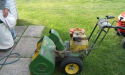 For sale used John Deere snowblower. Snowblower is an older unit but still runs and works well. If interested please contact Tony at 705-945-9967
