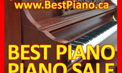 PIANO CLEARANCE SALE! - USED & NEW! Grand pianos, baby grand pianos, upright pianos ARE ON SALE! CALL NOW to book an appointment (647) 247-8944 CONTACT US Website: www.BestPiano.caTelephone: (647)-247-8944Address: 497 Champagne Drive, Toronto, Ontario