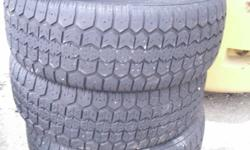 I HAVE SEVERAL PAIRS AND SETS OF GREAT QUALITY USED TIRES FOR SALE STARTING AT PRICES AS LOW AS $45.00 PER TIRE! I HAVE TIRES IN 14'', 15'', 16'', 17'', 18'' AND 19''. SET 235/55R17 MICHELIN MUD AND SNOW: $255.00. SET 235/55R17  PIRELLI FOUR SEASON: