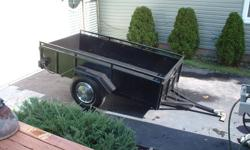 """4 x 8 all steel utility trailer, 16"""" sides with top rail,  Very solid"""