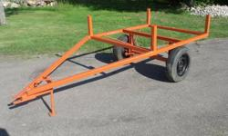 UTILITY TRAILER, BUILT SOLID, NO RUST, KUBOTA ORANGE, SOLID AXLE, PIN HITCH HOOK-UP, FRONT STAND, READY FOR BOX, $325 O.B.O. CALL ALEX @ 905-295-3068