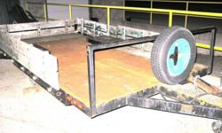 "6 x 12 trailer, lights, 2"" ball, 3/16"" checker plate deck, new rubber, ready to go"