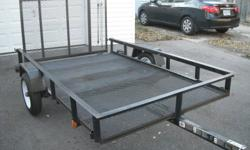 5 feet wide by 8 feet long tilt box and drop gate two years old in excellent shape. $1400.00 new asking $775.00. * Please no e-mails no time to read calls only at (226) 922-7771. Brantford Ontario