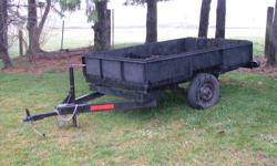 """light weight utility trailer 58""""x89"""" No Sunday calls please 400.00 or best offer Possible trade for 316 or 318 John deere garden tractor for parts"""