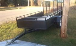 new utility trailer 5x10 fold down ramp 3500 lb axel 15 inch tires