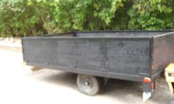 """utility trailer 6.3 by 10.6 with 2' sides..all new wood sides and foor ..new lights and coupler 2""""..new front leg..was 800 now 600..no room must go ..firm price..Barrie"""