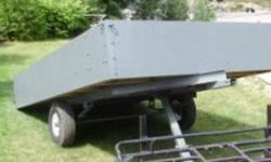 home made utility trailer 5'4 x 8'8 with new tires & rims for more information please contact Guy at 705-848-7603