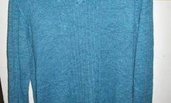 Green/ blue. V neck sweater. Size XL. Good condition. See my other ads.