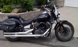 2008  yamaha v star 1100 custom, excellent condition, low kms, many extras, switchblade windshield, windshield bag, tank bra, highway bars, aftermarket exhaust, saddle bags, very low seat height, beautiful riding bike.