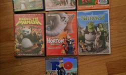 Selling various Blu-Ray and/or DVDs. Asking $2/each. Here are the titles: Shrek 2 (DVD) Gnomeo and Juliet (Blu-Ray) Mamma Mia (DVD) Horton hear a Who (DVD) Kung Fu Panda (DVD) The Lorox (DVD/Blu-Ray combo) Rio (DVD/Blu-Ray combo) Please e-mail or call if