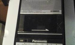 -Panasonic table top cassette recorder player. Has options for battery or plug in power. Has a pull out handle . Asking $25 -General Electric Model no.3-5383a handheld Micro Cassette Recorder player.Takes 2 AA batteries. Asking $20 -Digital handheld voice
