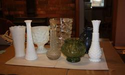 13 vases in all 5.00 for all of them just want them all gone