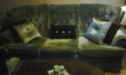Very clean blue couch and matching chair for sale. Comes from smoke-free/pet-free home. In excellent condition, especially for age. Great for spare room or starter set. Only selling because I redecorated otherwise absolutely nothing wrong with either