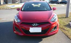 Make Hyundai Model Elantra GT Year 2013 Colour Red kms 21174 Trans Automatic Very clean car inside and out, in excellent condition and comes with 4 winter tires on rims with low kilometers. The car has rustproof and clear coat on paint.