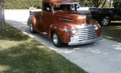 """Approx 6000 miles on FULLY RESTORED, rust free western body. 1946 was the first year Mercury pickups were built and only in Canada!! **Sorry type """"o"""" in the price. Should read $18,500.00. * Vortex 350 cu in Chevy, small block..tri-power carbs..MSD"""