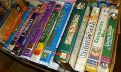 VHS Movies   A box full, sell together or $1.00 each   have to email for the names of them  some are childerns ones to  1 is  -> 10 years of Thomas & Friends   Mary Poppins , Aristocats,Black Beauty,Charlotte's Web             What a Women (Mel Gibson &