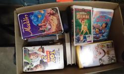 36 Vhs tapes. Toy Story, bambie, charlottes Web, alladin, lilo + Stich, lion King, sleeping Beauty and more classics.