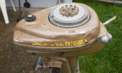 1950`s Viking motor, propeller shaft worn out.Good for parts or restoration.$100 obo.