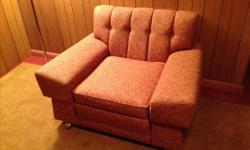 Vintage, low profile, 1950s couch and chair. In great condition.