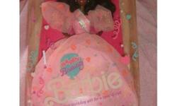 I am selling a barbie doll from MATTEL. She is a 1990 Happy Birthday Afro American BARBIE. On the bottom of the box there is still a price tag which says, Toys R US, $27.99.    ****I am starting to sell off all my entire barbie collection of over 100
