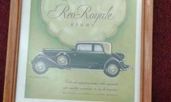 REO ROYALE EIGHT as featured in The Saturday Evening Post on December 20, 1930.