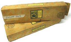 """Vintage cardboard empty display boxes was used in early sixties and late fifties as genuine GM car parts, has the wallpaper type finish with slogan """" Everything that's best for your car"""" Genuine GM parts. The boxes was used from 1955 to 61 for Corvette"""