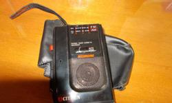 This vintage cassette recorder has an AM/FM radio and case Works well Asking $15 Contact 250-475-2291