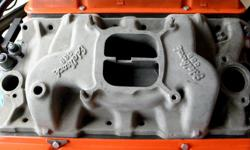 Vintage Edelbrock C3B aluminum performer styed Dual Plane high-rise small block Chevy four-barrel intake manifold , original clean condition, This intake manifold is compare to 327-350HP 64 65 66 67 Corvette & Chevy II Chevelle L-79. Its has no coil