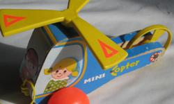 Vintage Fisher Price Helicopter Pull it and the propeller spins around