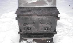Vintage Fisher Airtight Wood Stove Grandma Bear Model comes with spark screen CALL 705-733-8065 $400 or BO