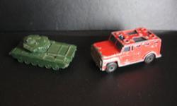 Matchbox #89, Armored Truck and a Centurion Tank, Mark 3 (short Barrel) made in England.  705 945 5363
