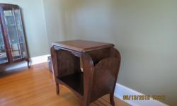"Lovely Vintage Mahogany Magazine Table - Art Deco Style table 21"" x13""x22"" overall width 26"" good condition for its"