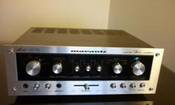 Offering a 75' Classic MARANTZ 1070 Integrated Amplifier accompanied with audiophile TANNOY c-10 in impeccable original condition. The Marantz 1070 Amplifier: A Stereo Console unit quite compact but boasts 35 watts per channel into 8 ohm speaker load.This