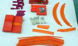 """For Sale: Vintage Mattel Hot Wheels Track and Accessories. In good played like shape. Been in storage for years. Lot consists of: 15 - 24"""" Orange Track 3 - 6"""" Orange Track 1 - 12"""" Orange Track 1 - Orange Jump Track 2 - Orange Hot Curves - the top edges"""