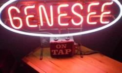 This is a cool vintage neon beer sign you can hang from your window or just let it sit on your bar great for any man cave